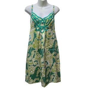Beth Bowley Silk Floral Strapless Dress Size 8